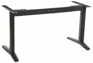 Steel desk frame with extensible beam, black colour. STL-01