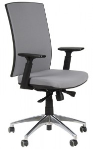 Office armchair with aluminum base, KB-8922B/ALU/GREY - swivel chair