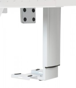 Under desk PC holder - large adjustment range, white colour