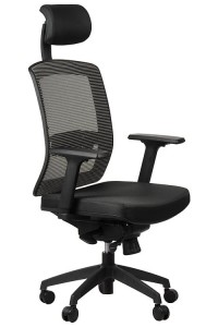 Office armchair GN-301/BLACK/GREY with seat sliding system, swivel chair